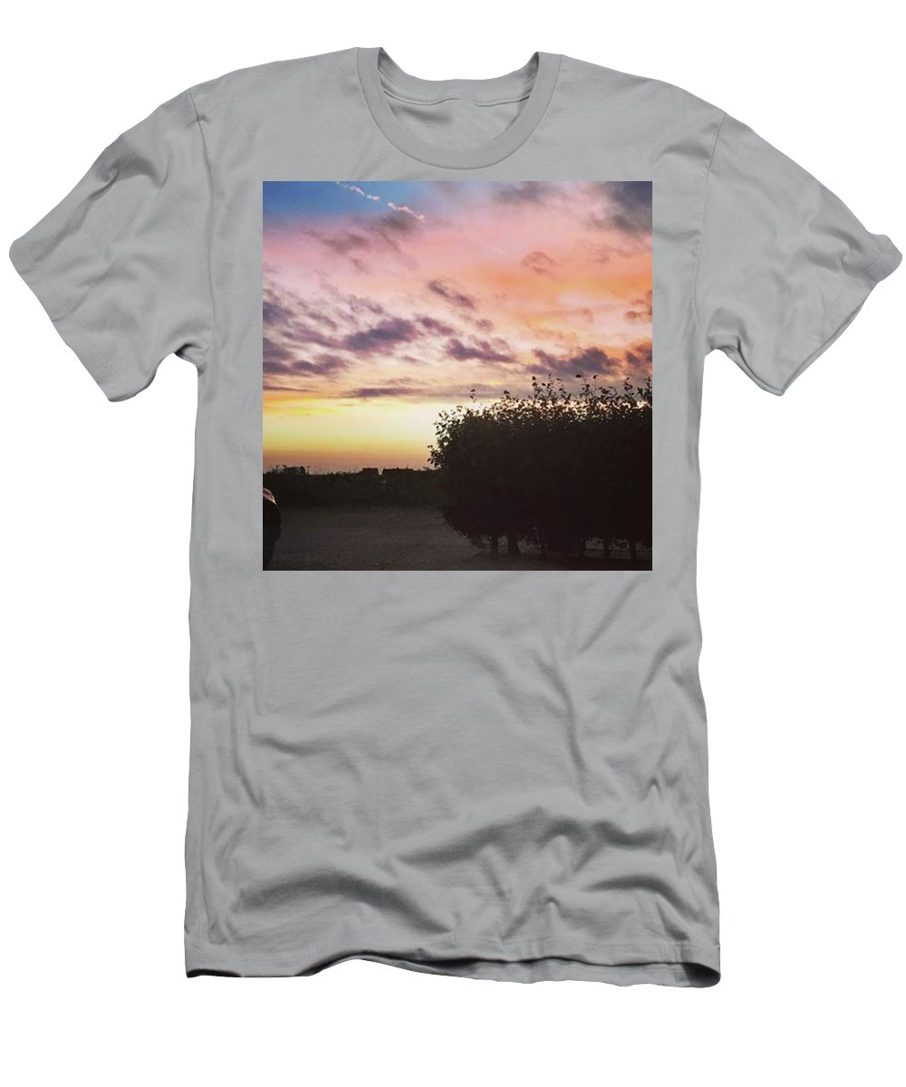 Norfolklife T-Shirt featuring the photograph A Beautiful Morning Sky At 06:30 This by John Edwards