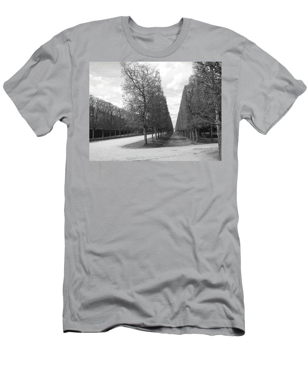 Trees Men's T-Shirt (Athletic Fit) featuring the photograph A Break In The Trees by Tom Reynen