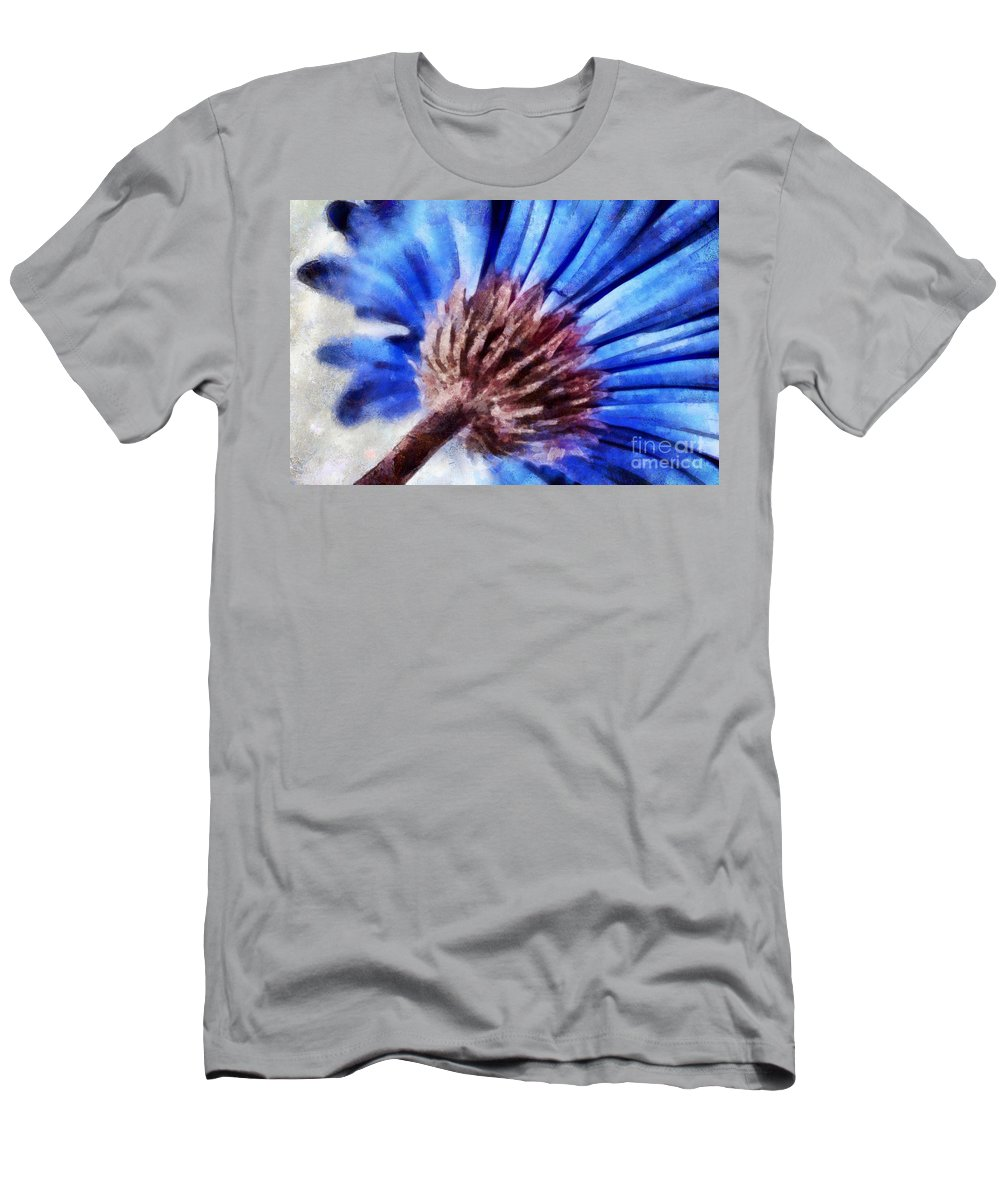 Daisy Men's T-Shirt (Athletic Fit) featuring the photograph A Curious Mind by Krissy Katsimbras