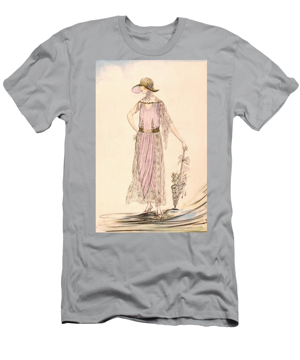 Flapper Men's T-Shirt (Athletic Fit) featuring the painting A Day Dress by English School