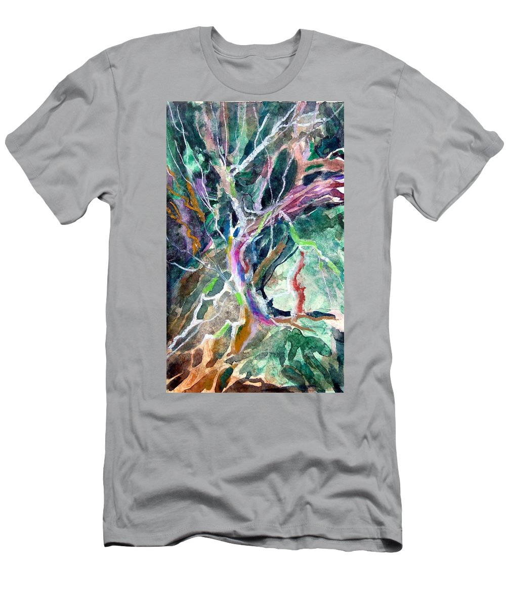Tree Men's T-Shirt (Athletic Fit) featuring the painting A Dying Tree by Mindy Newman