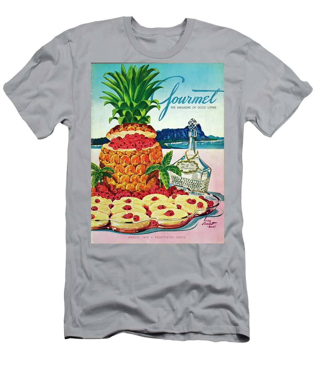 Food T-Shirt featuring the photograph A Hawaiian Scene With Pineapple Slices by Henry Stahlhut