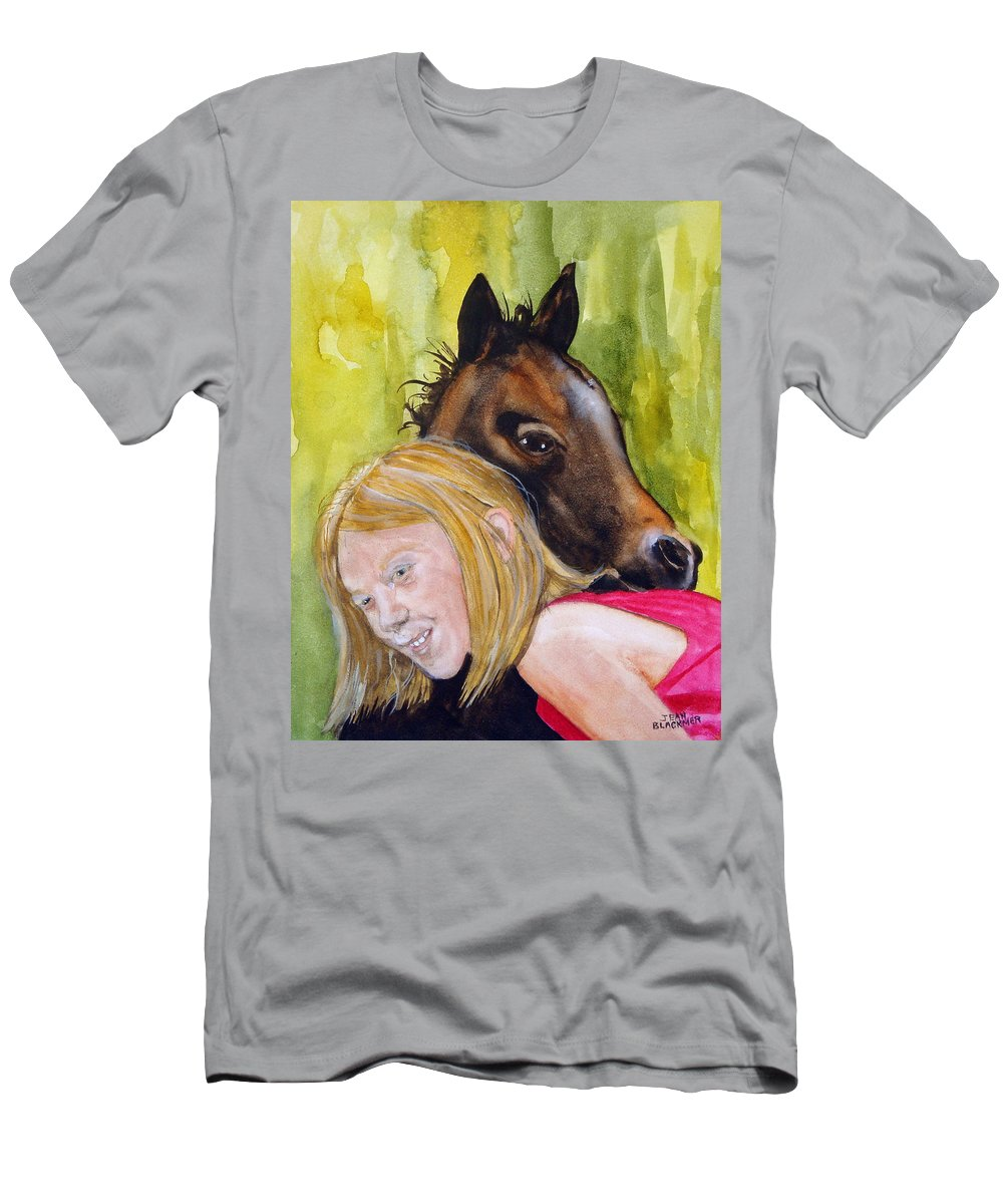 Equine T-Shirt featuring the painting A Little Girl's Fancy by Jean Blackmer