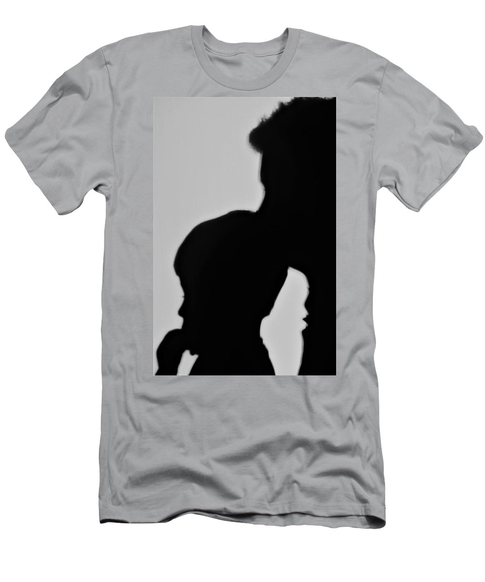 Shilouette Men's T-Shirt (Athletic Fit) featuring the photograph A Moment In Time by John Glass