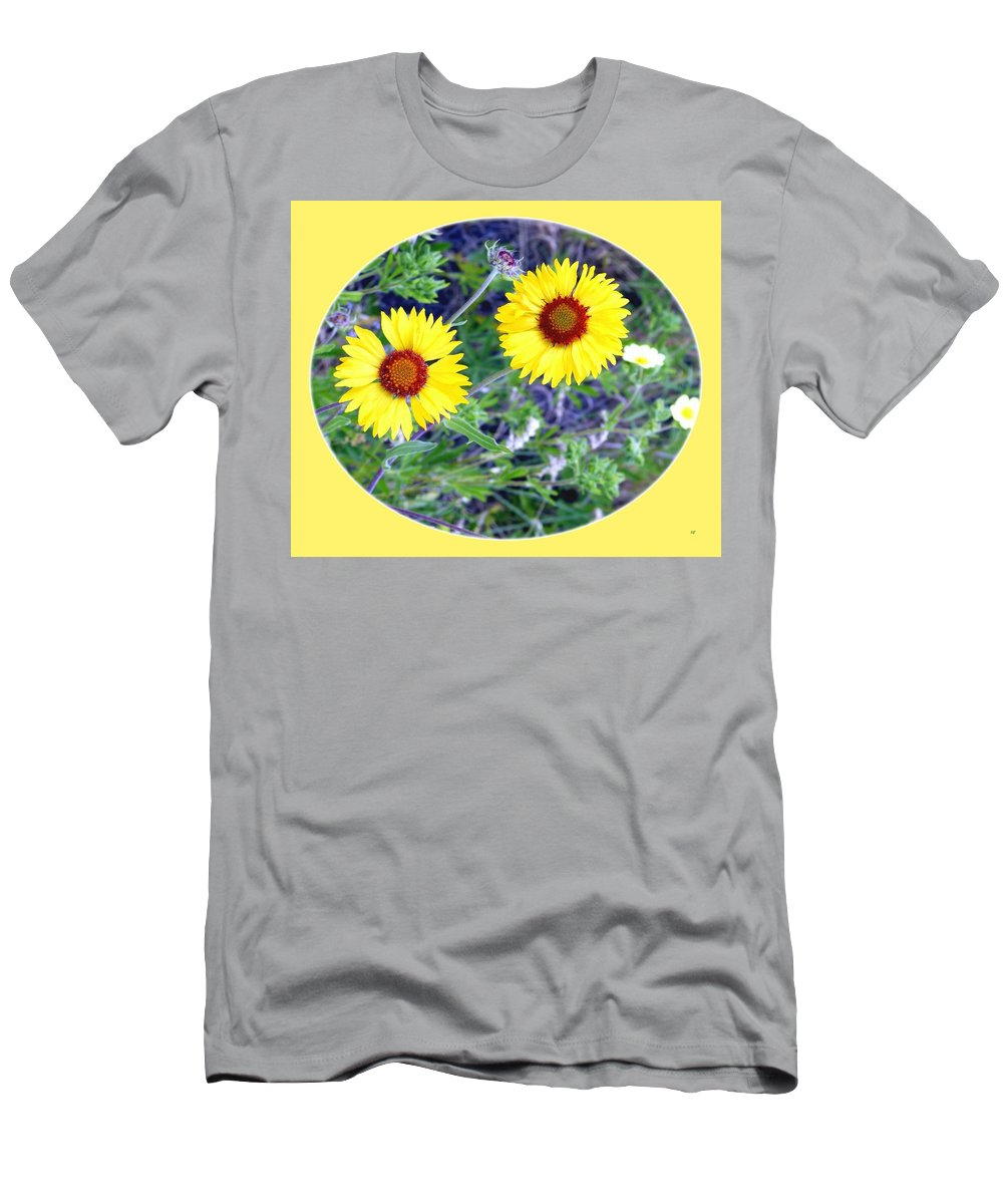 #wildbrown-eyedsusans Men's T-Shirt (Athletic Fit) featuring the photograph A Pair Of Wild Susans by Will Borden