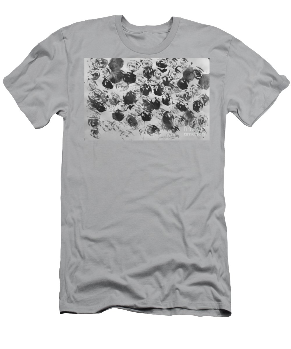 Abstract Men's T-Shirt (Athletic Fit) featuring the painting A Rose Is A Rose by Jamey Balester
