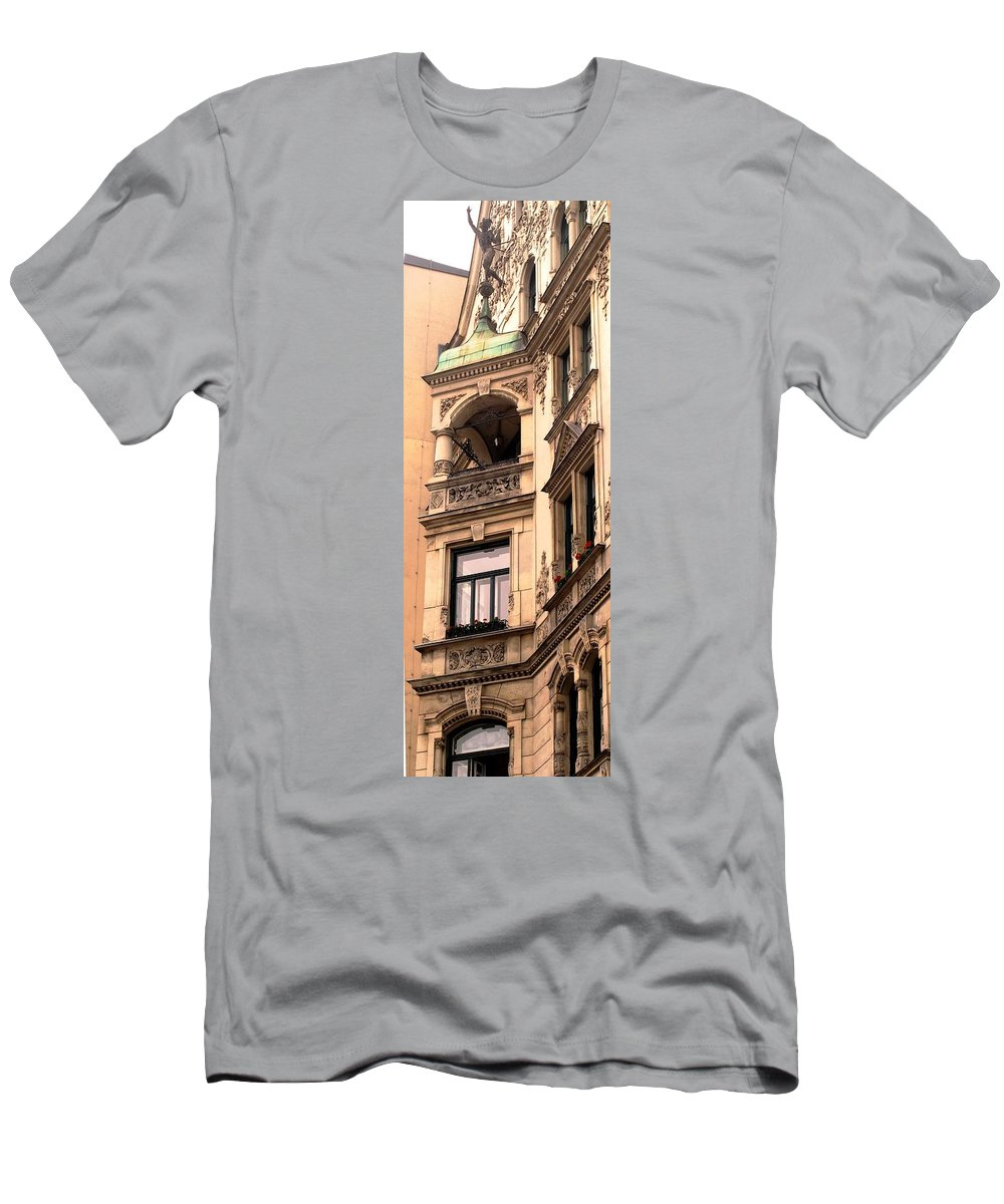 Vienna Men's T-Shirt (Athletic Fit) featuring the photograph A Slice Of Old Vienna by Ian MacDonald