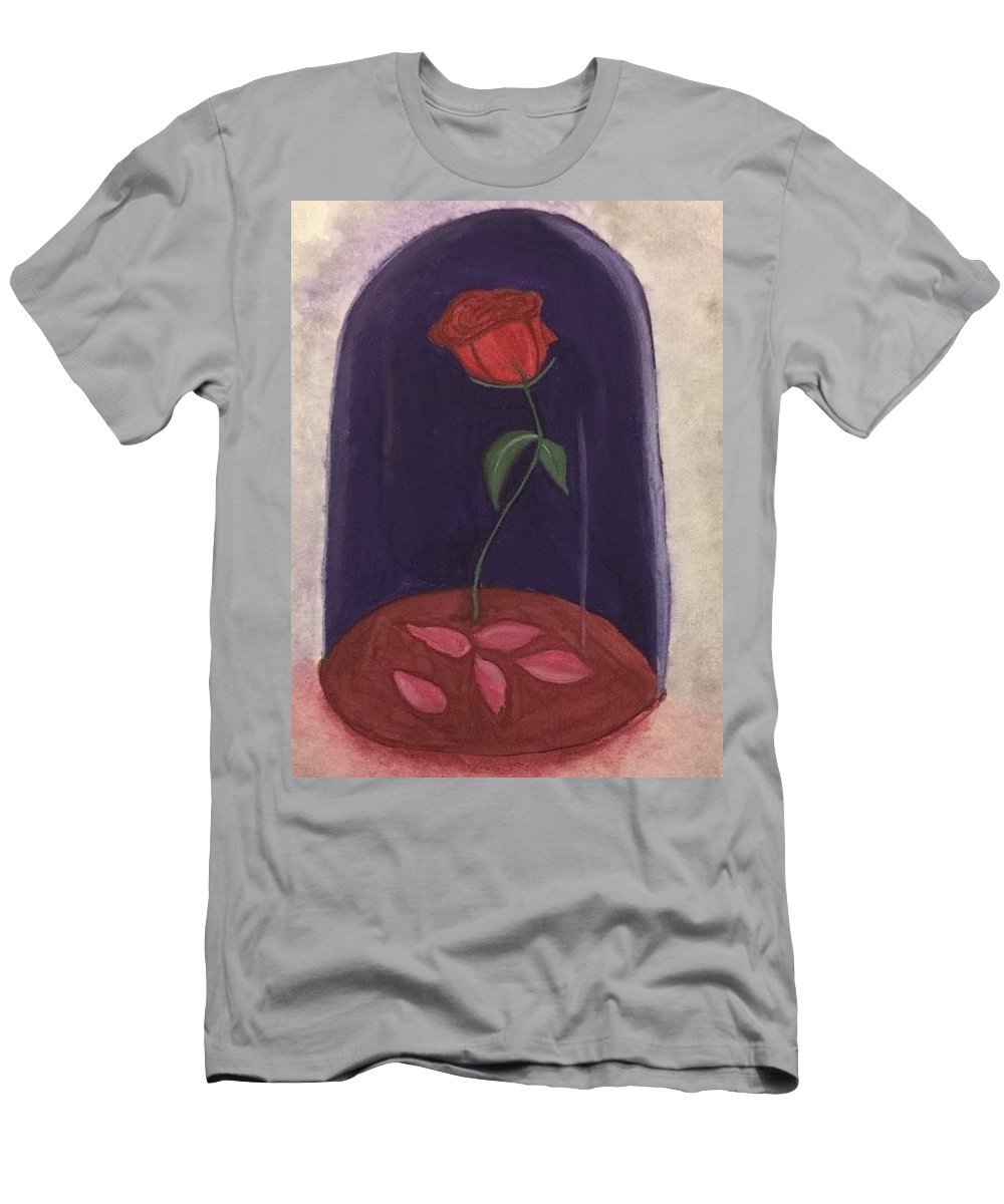 Beauty And The Beast Men's T-Shirt (Athletic Fit) featuring the painting A Tale As Old As Time.... by Kaitlin Rediger
