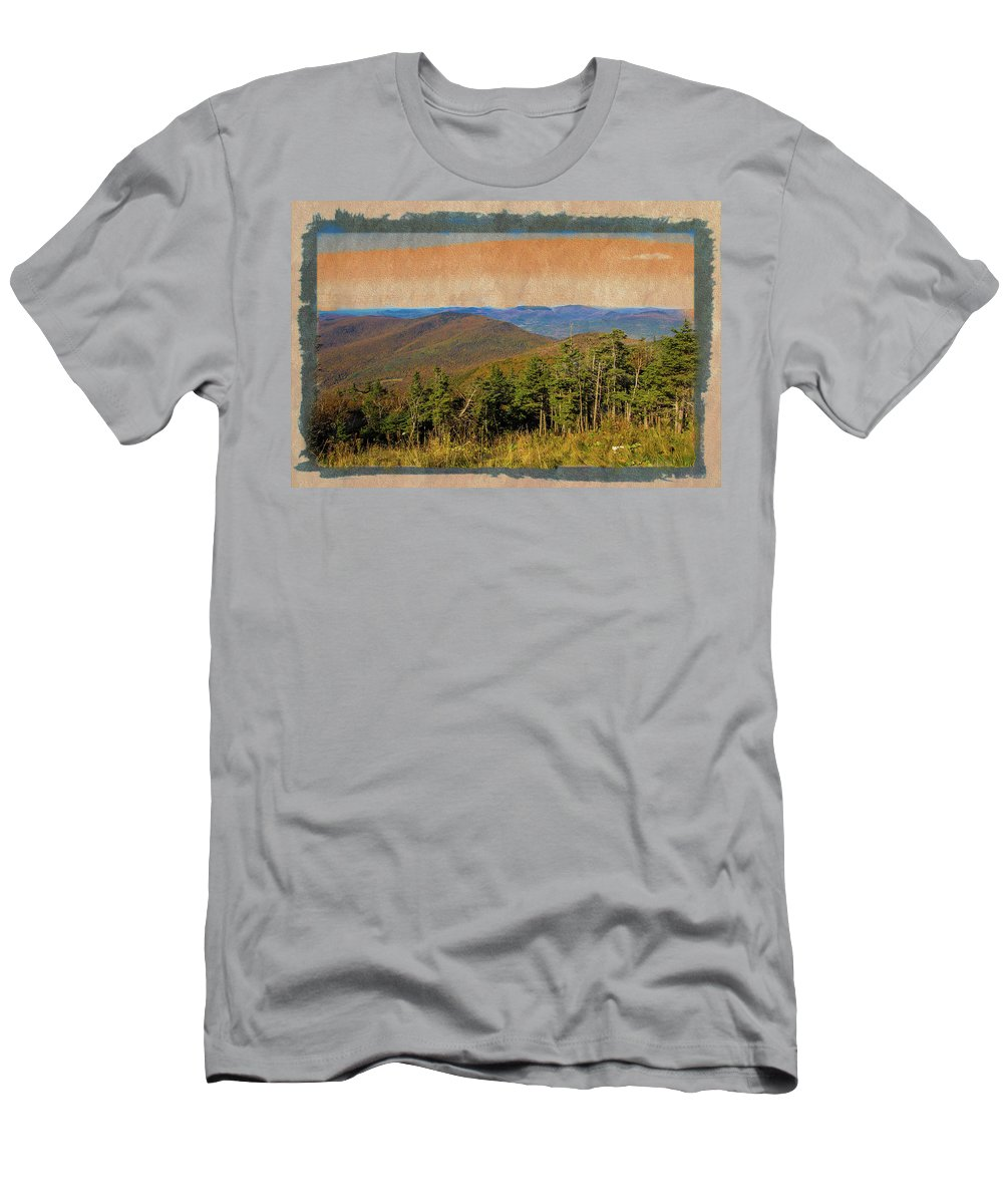 Equinox Mountain Men's T-Shirt (Athletic Fit) featuring the photograph Equinox Mountain, Vermont.       by Rusty R Smith