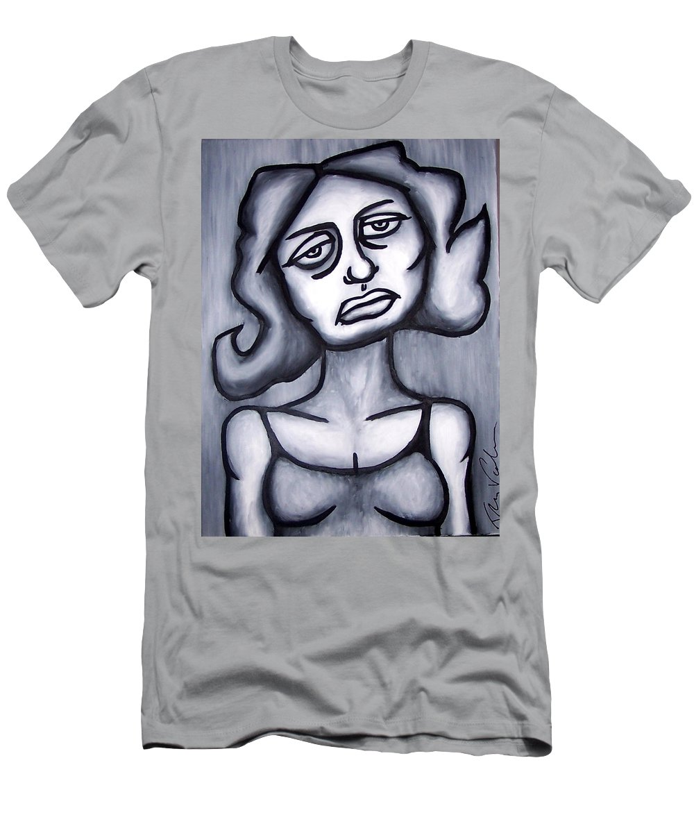 Portait Men's T-Shirt (Athletic Fit) featuring the painting A Woman by Thomas Valentine