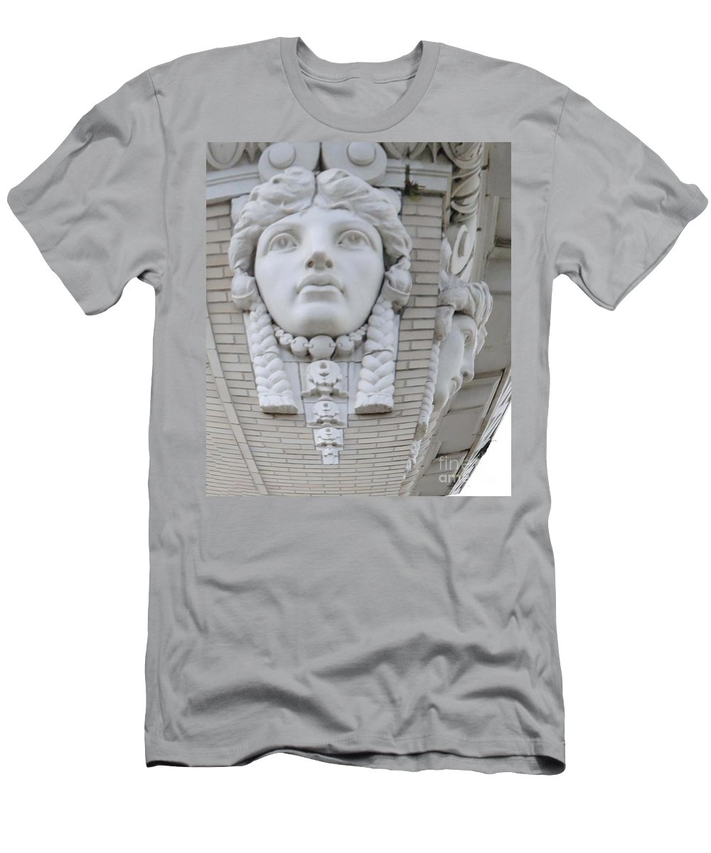 City Men's T-Shirt (Athletic Fit) featuring the photograph A Woman's View by Jost Houk