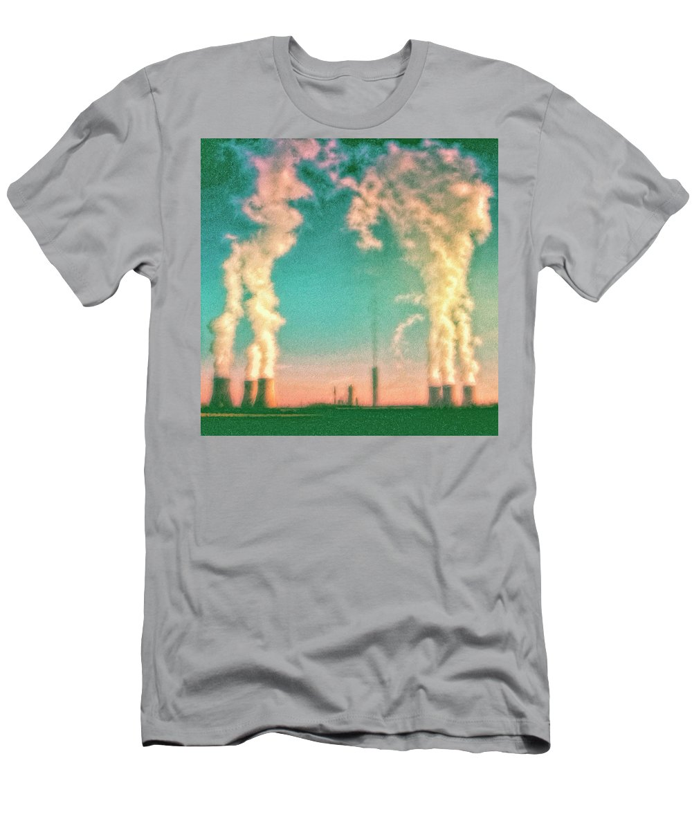 Nuclear Plant Men's T-Shirt (Athletic Fit) featuring the painting Abraxas 2 by Dominic Piperata