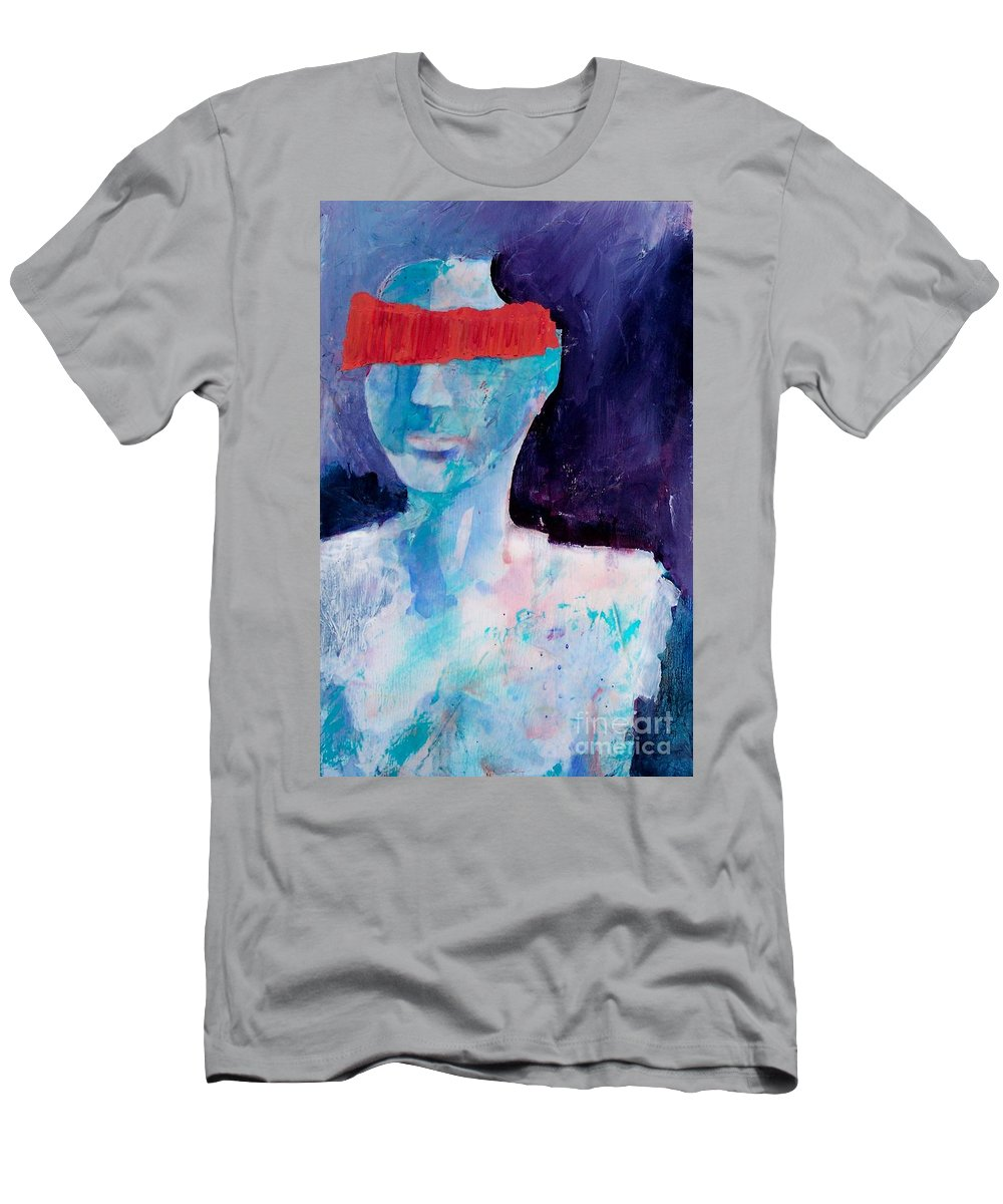 Abstract Expressionism Men's T-Shirt (Athletic Fit) featuring the painting Abstract 077 by Donna Frost