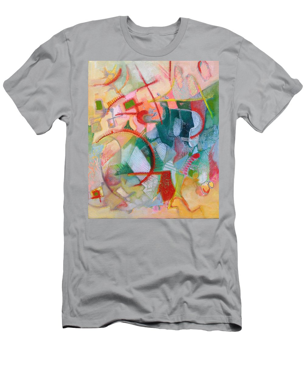 Abstract Artwork Men's T-Shirt (Athletic Fit) featuring the painting Abstract 3 by Susanne Clark