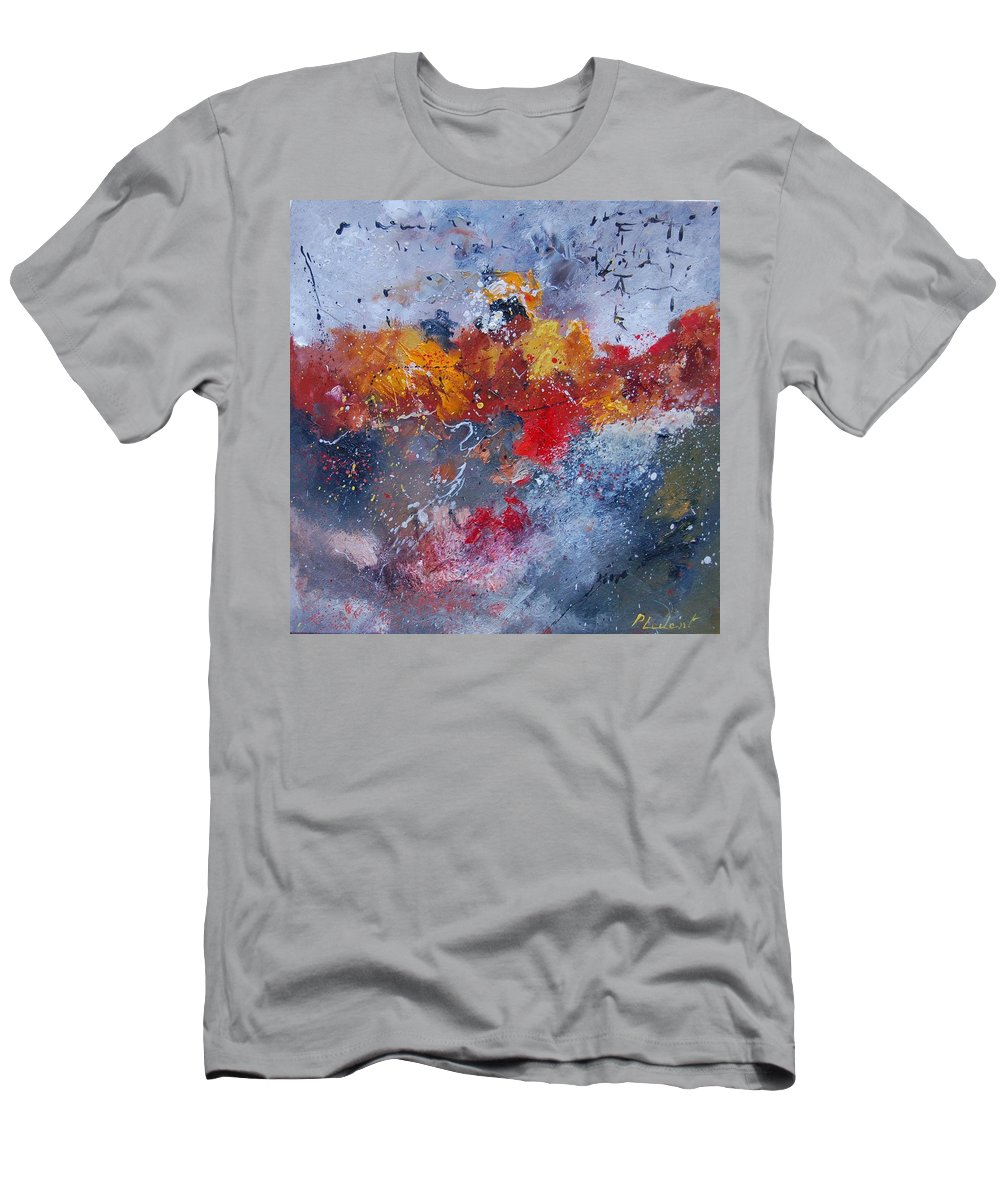 Abstract T-Shirt featuring the painting Abstract 55902110 by Pol Ledent