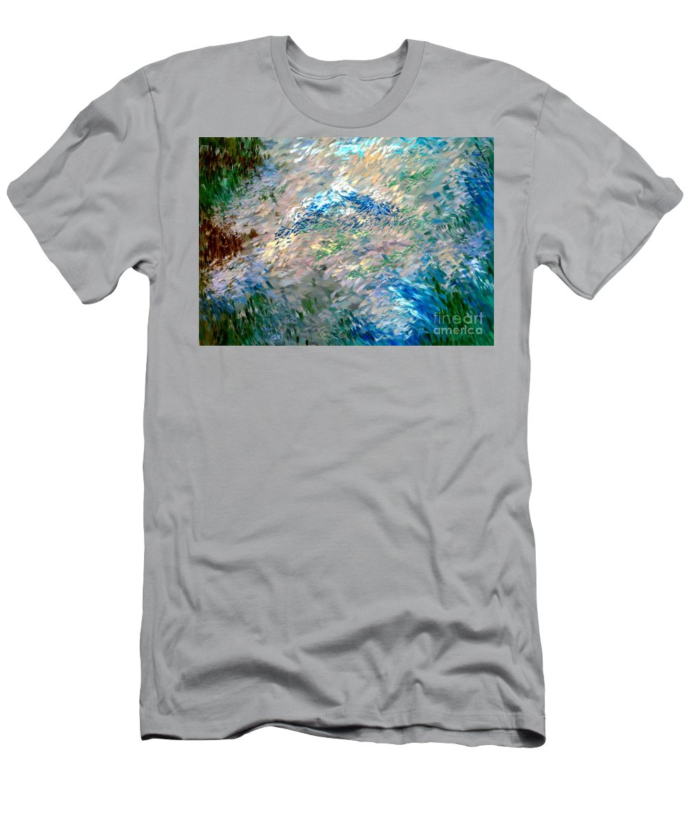 Abstract Men's T-Shirt (Athletic Fit) featuring the digital art Abstract 6-03-09 A by David Lane