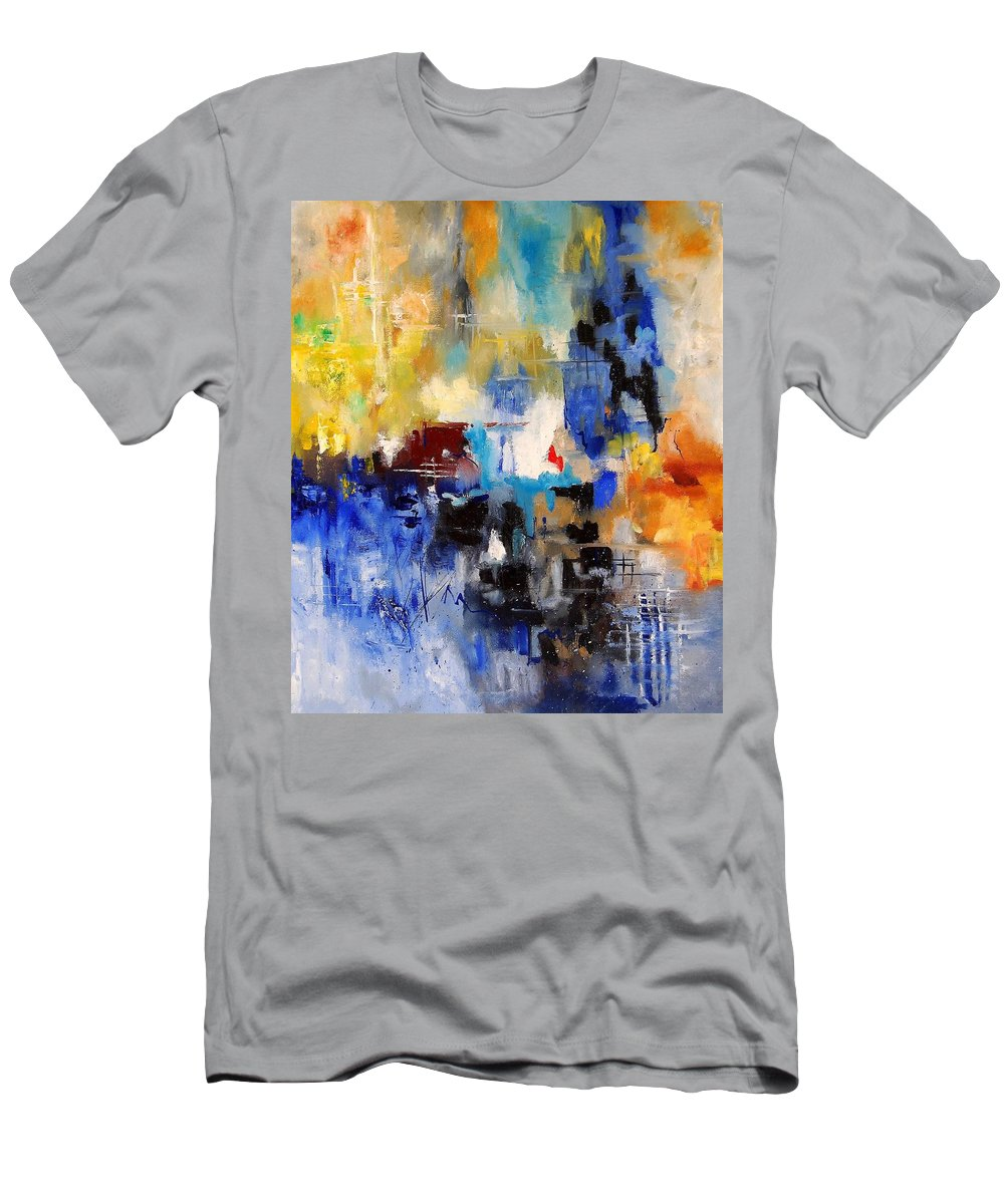 Abstract T-Shirt featuring the painting Abstract 69070 by Pol Ledent