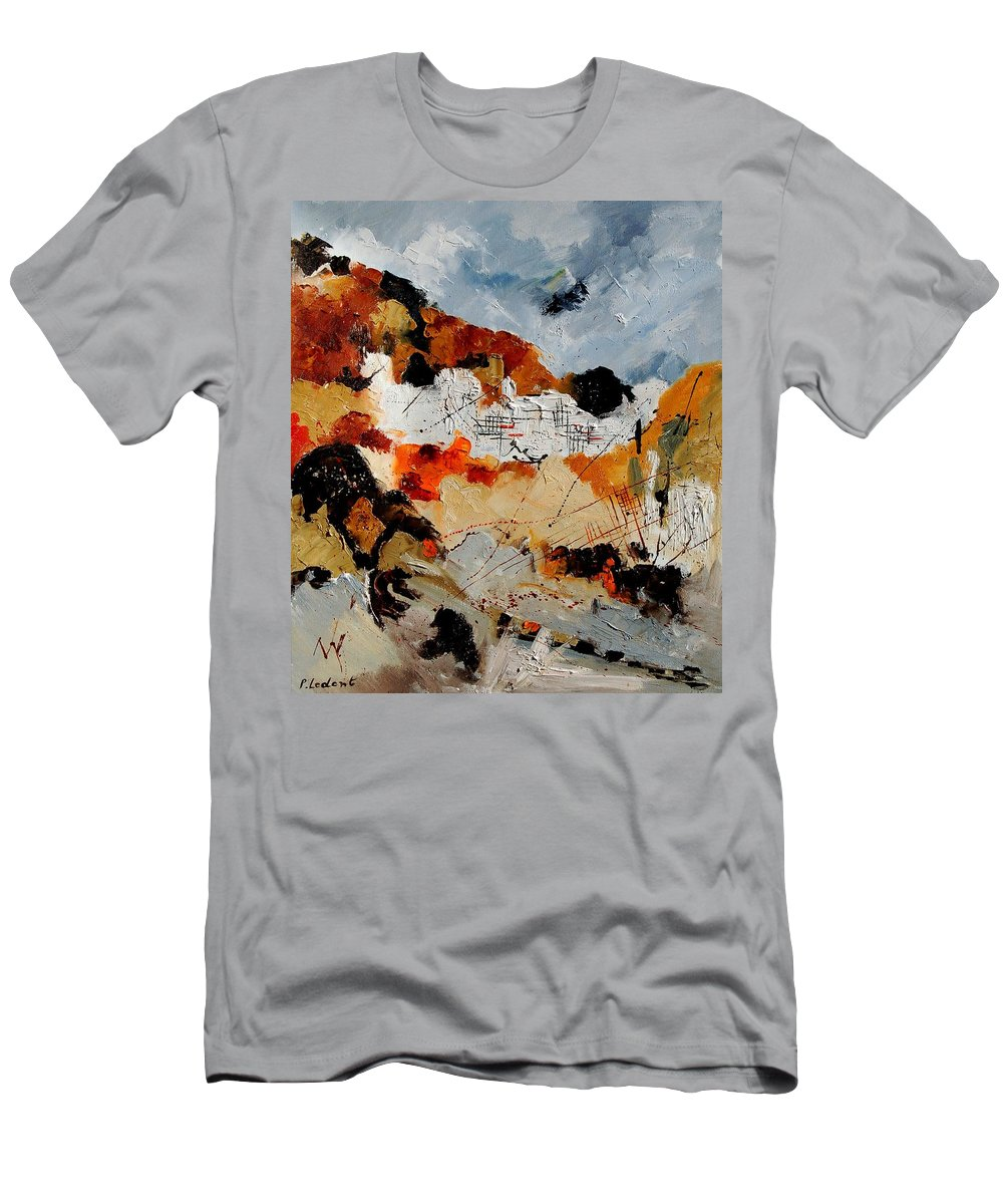 Abstract Men's T-Shirt (Athletic Fit) featuring the painting Abstract 780708 by Pol Ledent