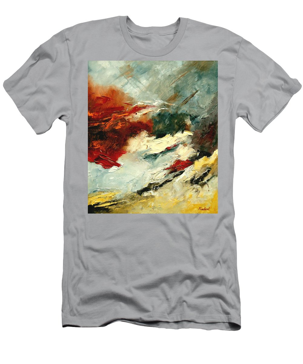 Abstract Men's T-Shirt (Athletic Fit) featuring the painting Abstract 9 by Pol Ledent