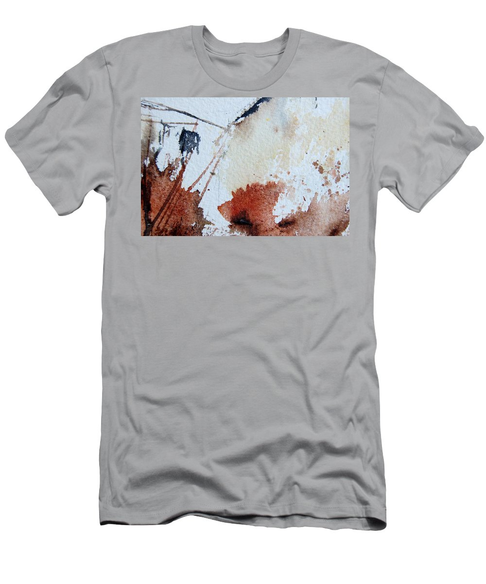 Abstract Men's T-Shirt (Athletic Fit) featuring the painting Abstract 9037 by Pol Ledent