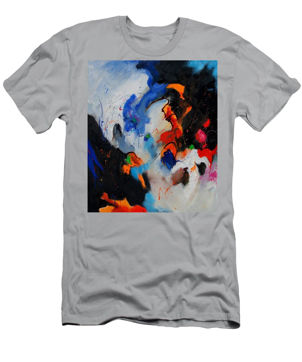 Abstract Men's T-Shirt (Athletic Fit) featuring the painting Abstract 905060 by Pol Ledent