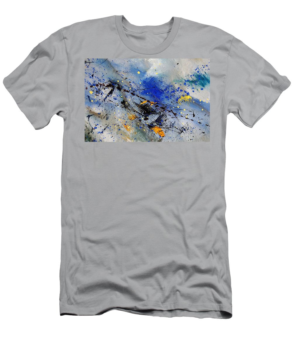 Abstract Men's T-Shirt (Athletic Fit) featuring the painting Abstract 969090 by Pol Ledent