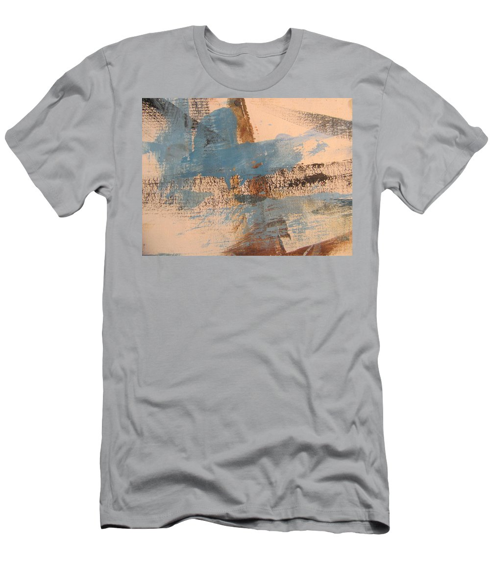 Abstract Men's T-Shirt (Athletic Fit) featuring the painting Abstract At Sea 4 by Anita Burgermeister