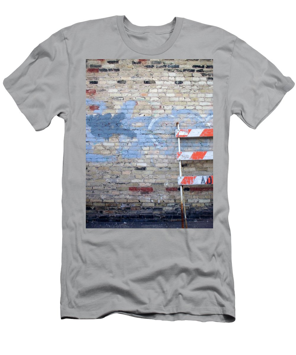 Industrial Men's T-Shirt (Athletic Fit) featuring the photograph Abstract Brick 2 by Anita Burgermeister