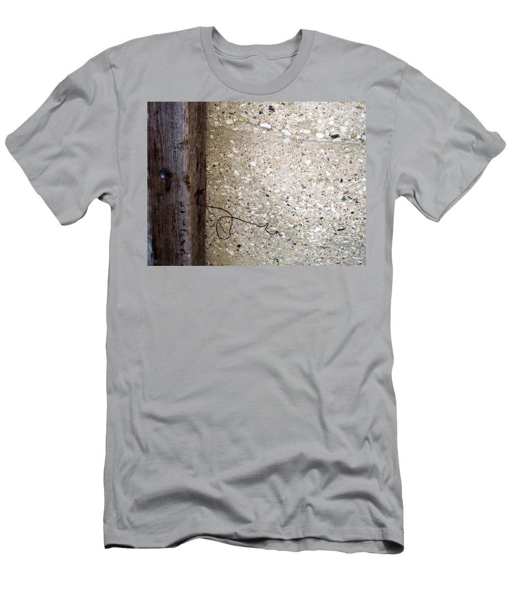 Industrial. Urban Men's T-Shirt (Athletic Fit) featuring the photograph Abstract Concrete 12 by Anita Burgermeister
