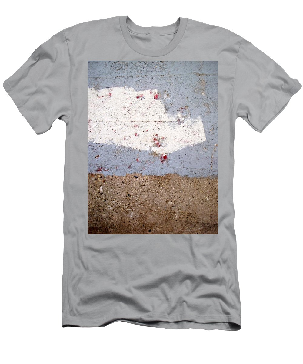 Industrial. Urban Men's T-Shirt (Athletic Fit) featuring the photograph Abstract Concrete 13 by Anita Burgermeister