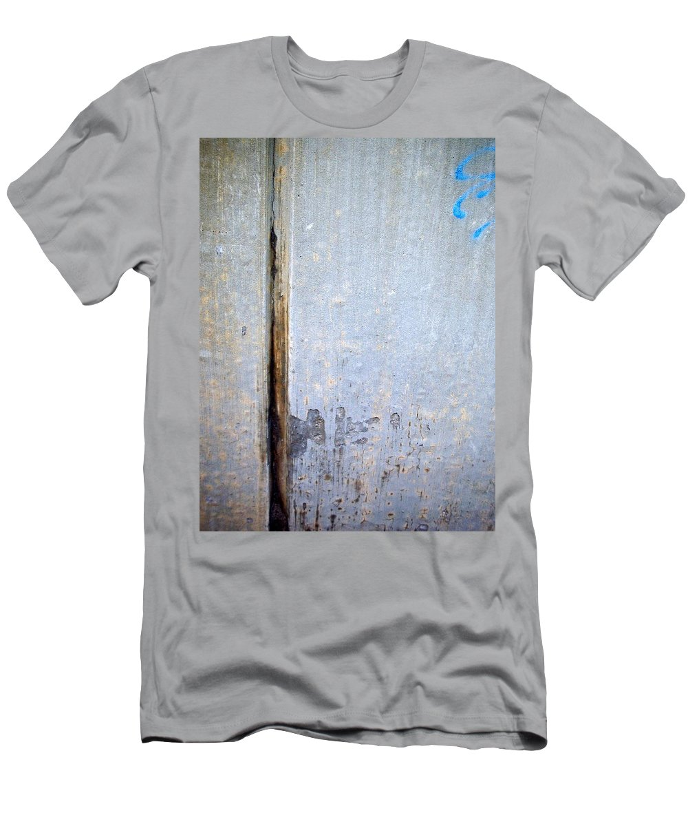 Industrial. Urban Men's T-Shirt (Athletic Fit) featuring the photograph Abstract Concrete 19 by Anita Burgermeister