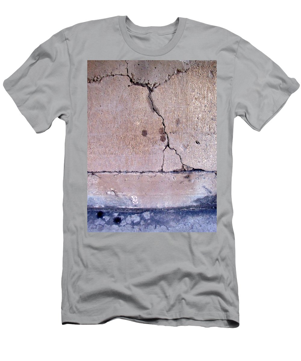 Industrial. Urban Men's T-Shirt (Athletic Fit) featuring the photograph Abstract Concrete 3 by Anita Burgermeister