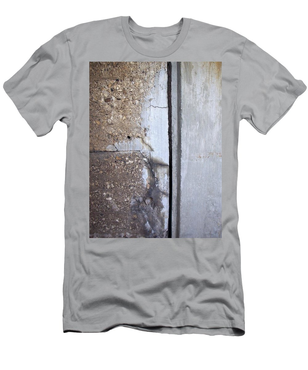 Industrial. Urban Men's T-Shirt (Athletic Fit) featuring the photograph Abstract Concrete 5 by Anita Burgermeister
