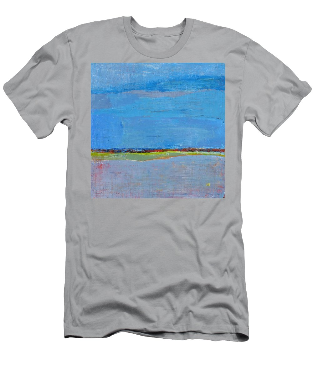 Men's T-Shirt (Athletic Fit) featuring the painting Abstract Landscape1 by Habib Ayat