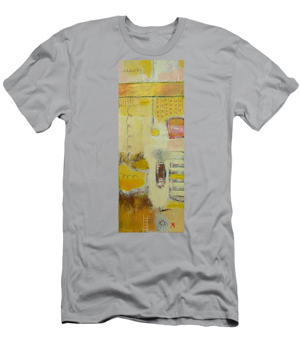 Abstract Men's T-Shirt (Athletic Fit) featuring the painting Abstract Life 1 by Habib Ayat