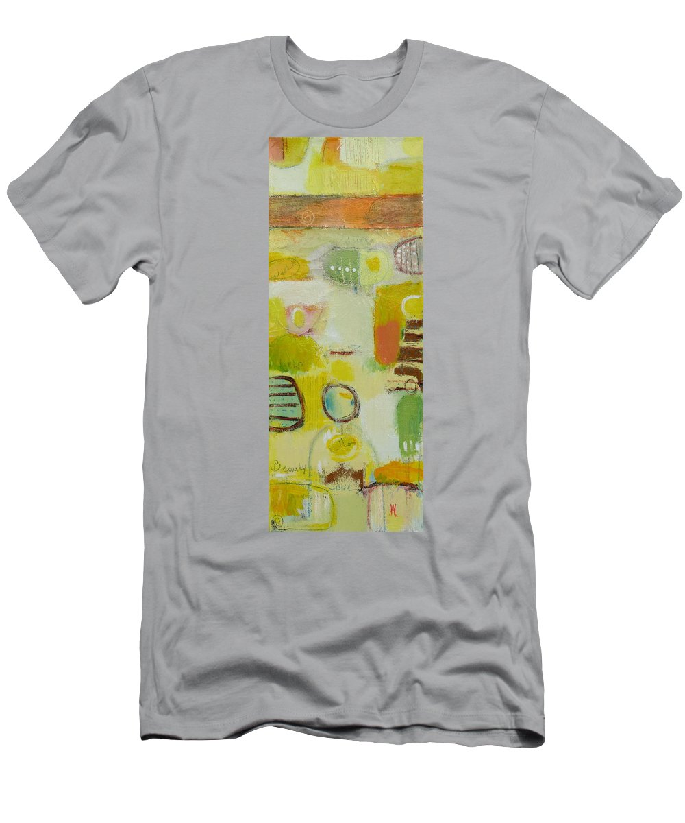 Men's T-Shirt (Athletic Fit) featuring the painting Abstract Life 2 by Habib Ayat