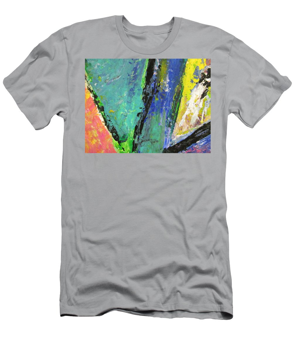 Abstract Men's T-Shirt (Athletic Fit) featuring the painting Abstract Piano 5 by Anita Burgermeister