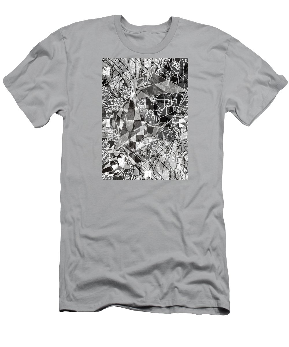 Abstrakcja Przenikalna Men's T-Shirt (Athletic Fit) featuring the digital art pERMEABLE aBSTRACTION by WouX