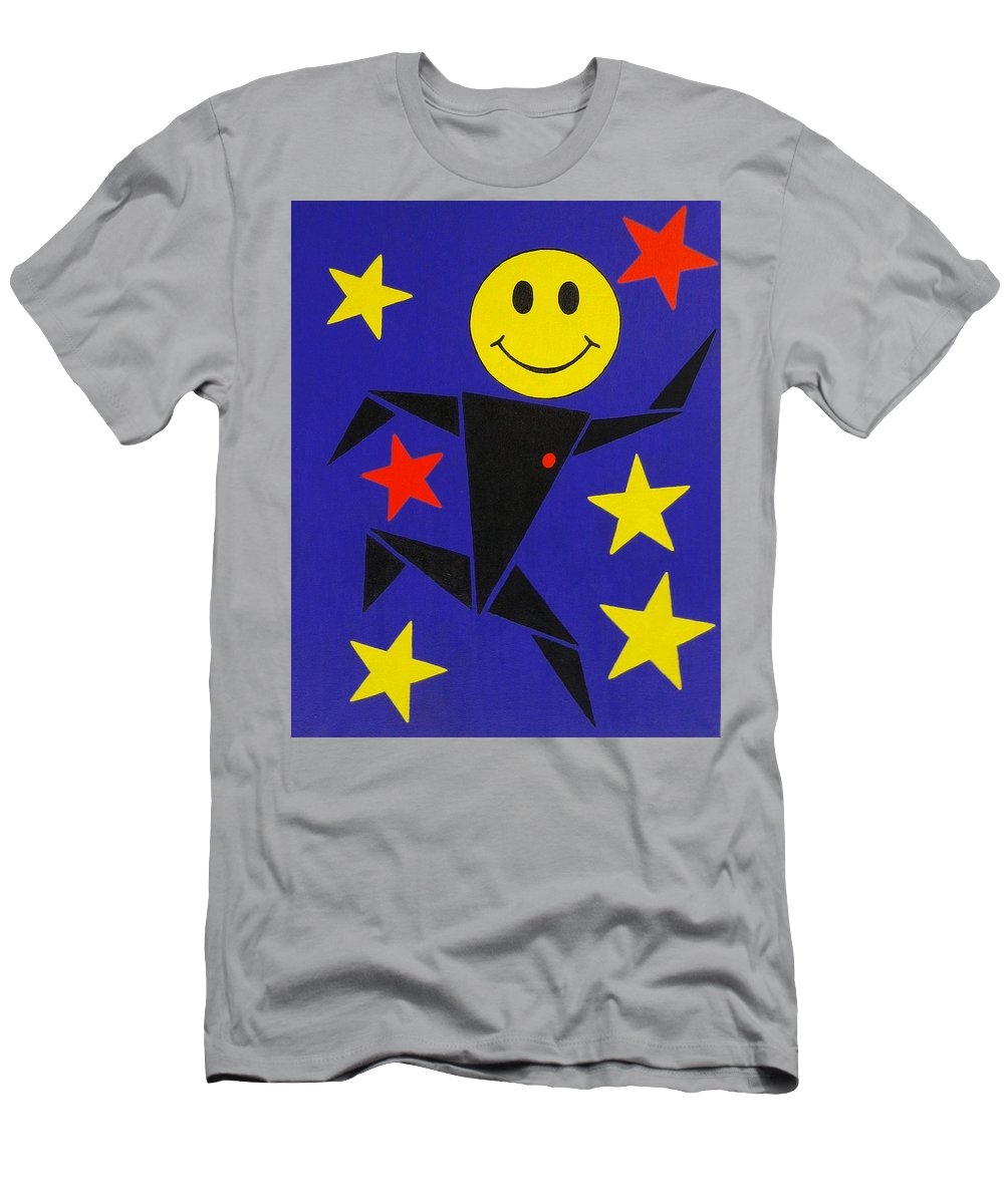 Surreal Men's T-Shirt (Athletic Fit) featuring the painting Acid Jazz by Oliver Johnston
