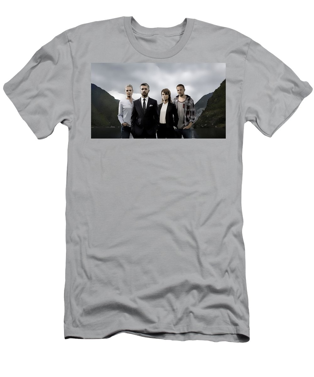 Acquitted Men's T-Shirt (Athletic Fit) featuring the digital art Acquitted by Lora Battle