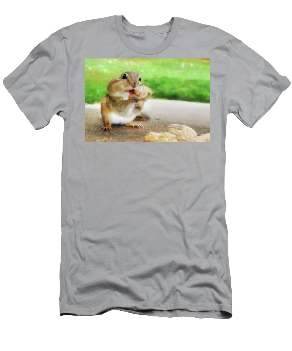 Chippy Men's T-Shirt (Athletic Fit) featuring the photograph Addicted To Nuts by Lori Deiter