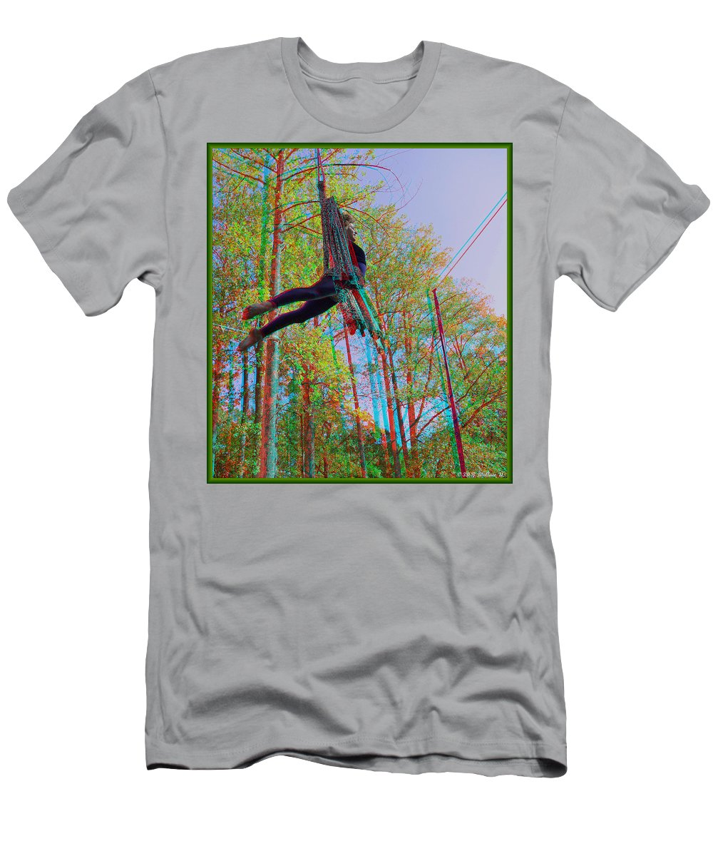 3d Men's T-Shirt (Athletic Fit) featuring the photograph Aerial Artist - Use Red-cyan 3d Glasses by Brian Wallace