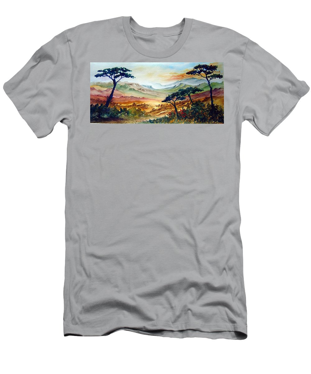 Africa Men's T-Shirt (Athletic Fit) featuring the painting Africa by Joanne Smoley