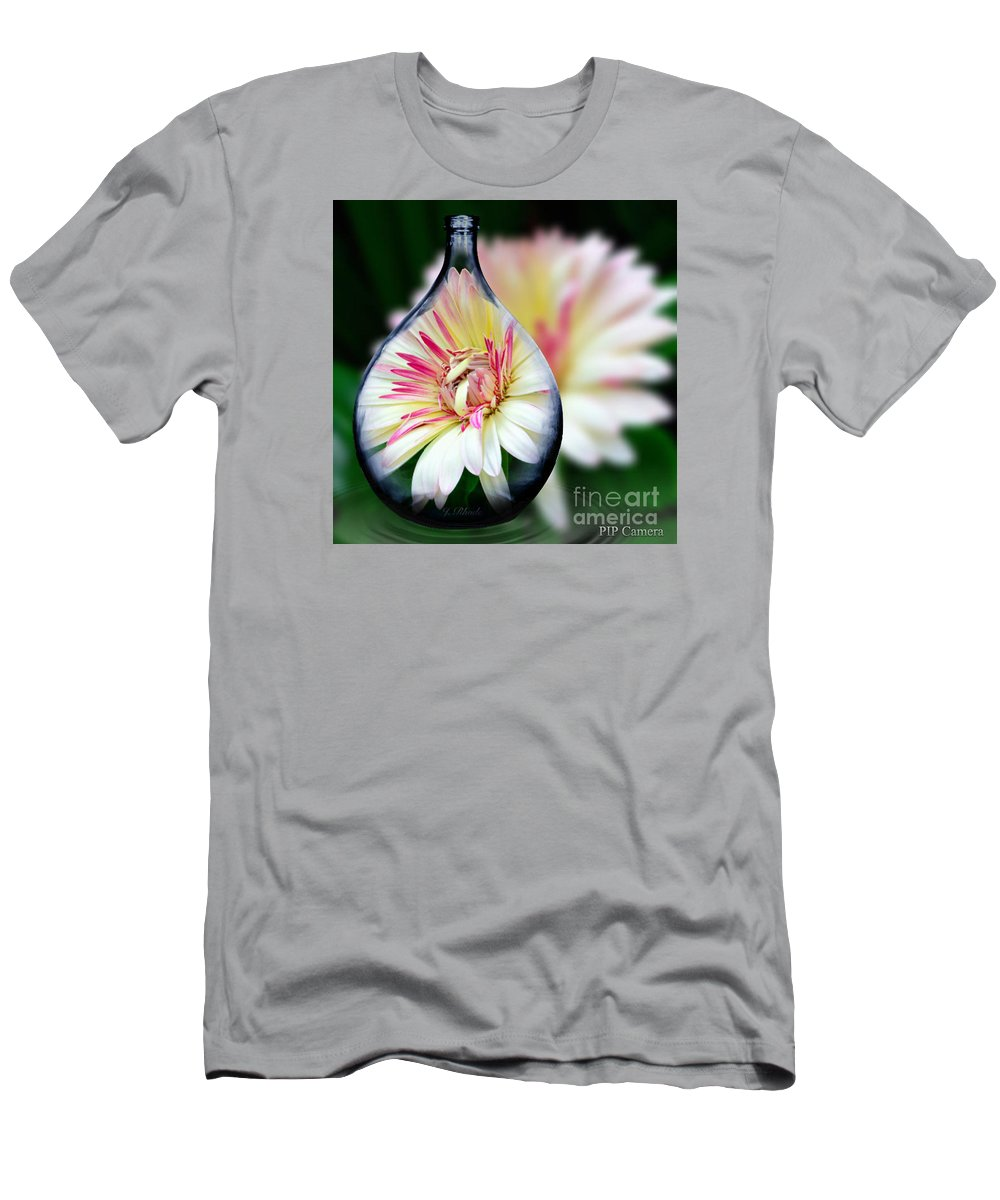 African Daisy Vase Men's T-Shirt (Athletic Fit) featuring the photograph African Daisy Vase by Jeannie Rhode