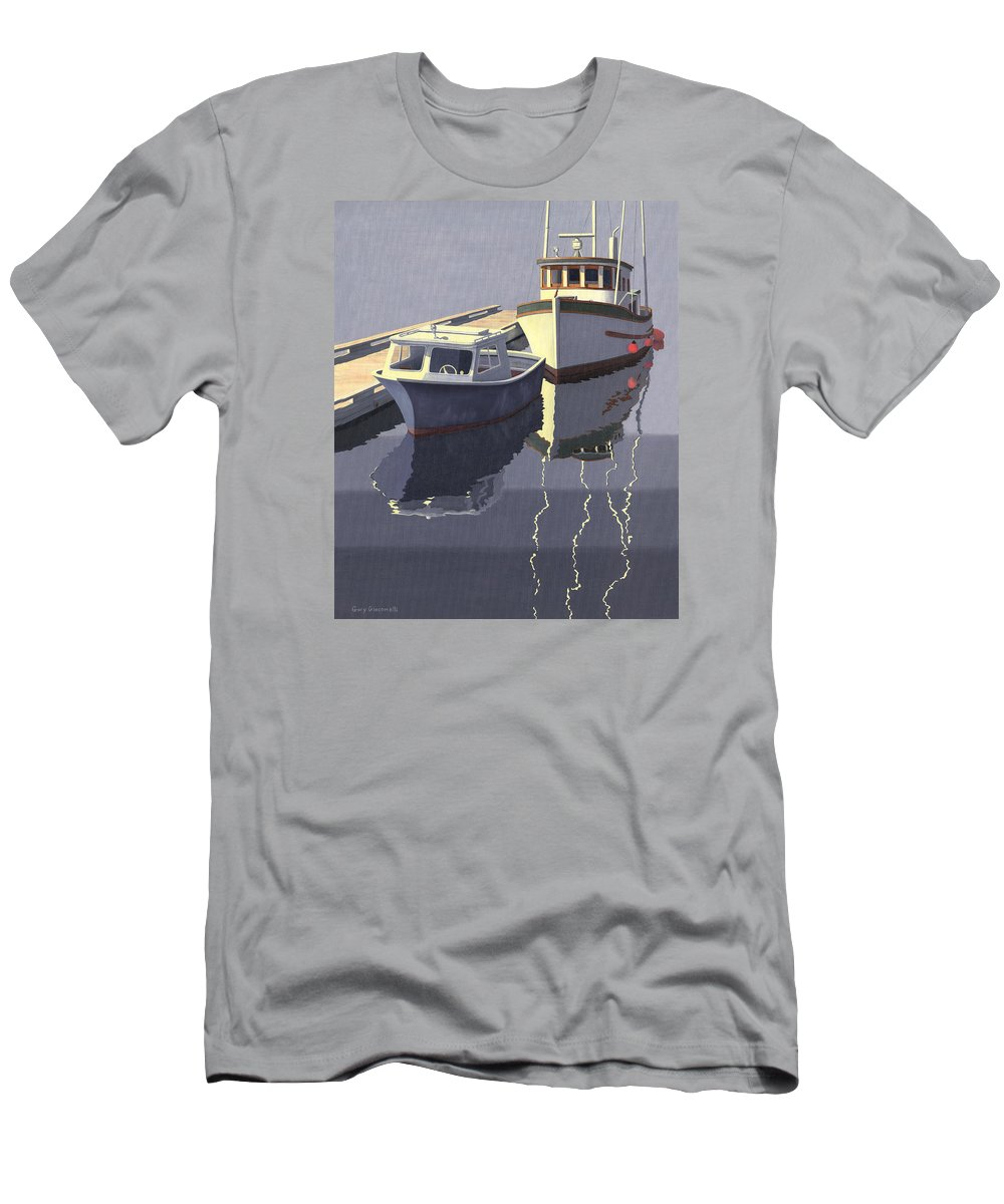 Boat Men's T-Shirt (Athletic Fit) featuring the painting After The Rain by Gary Giacomelli