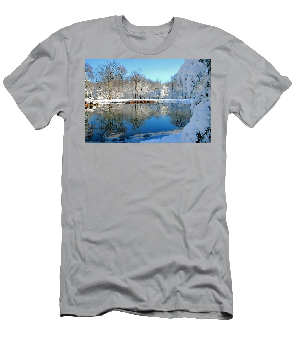 Lake Men's T-Shirt (Athletic Fit) featuring the photograph After The Storm by Kristin Elmquist
