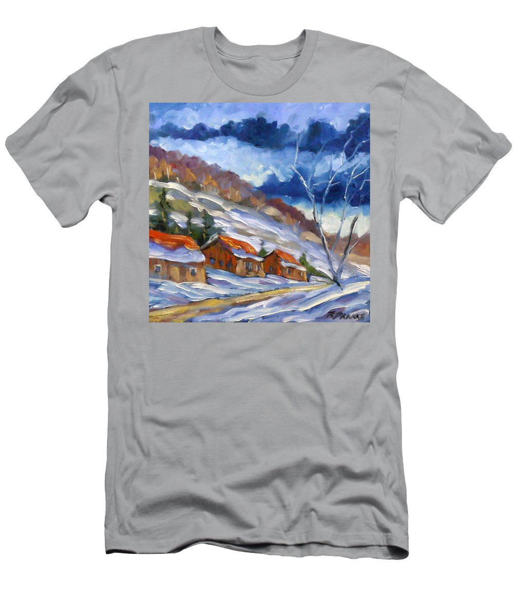 Art Men's T-Shirt (Athletic Fit) featuring the painting After The Storm by Richard T Pranke