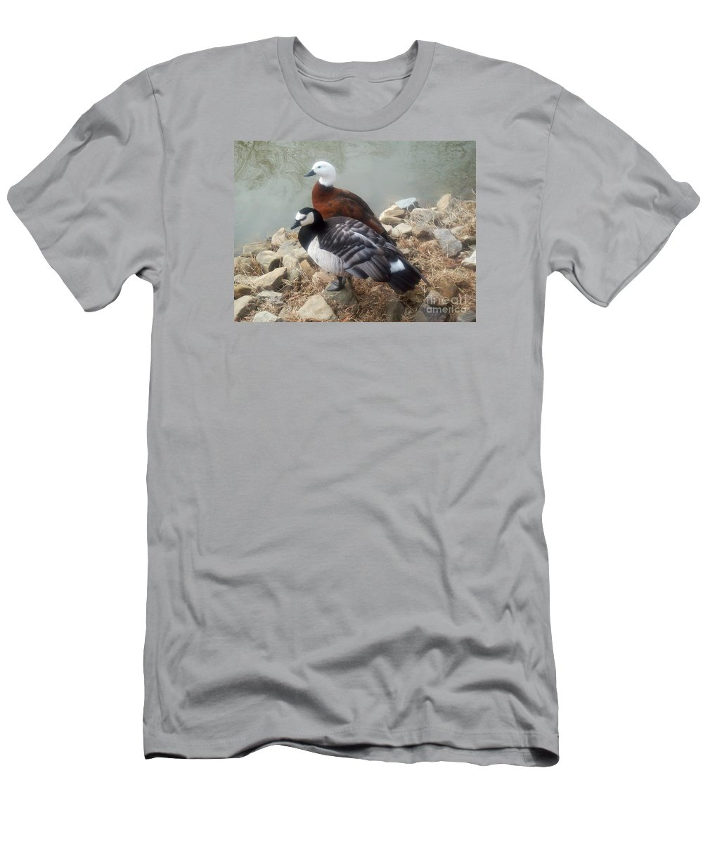 Ducks Men's T-Shirt (Athletic Fit) featuring the photograph Afternoon Delight by Sandra McClure