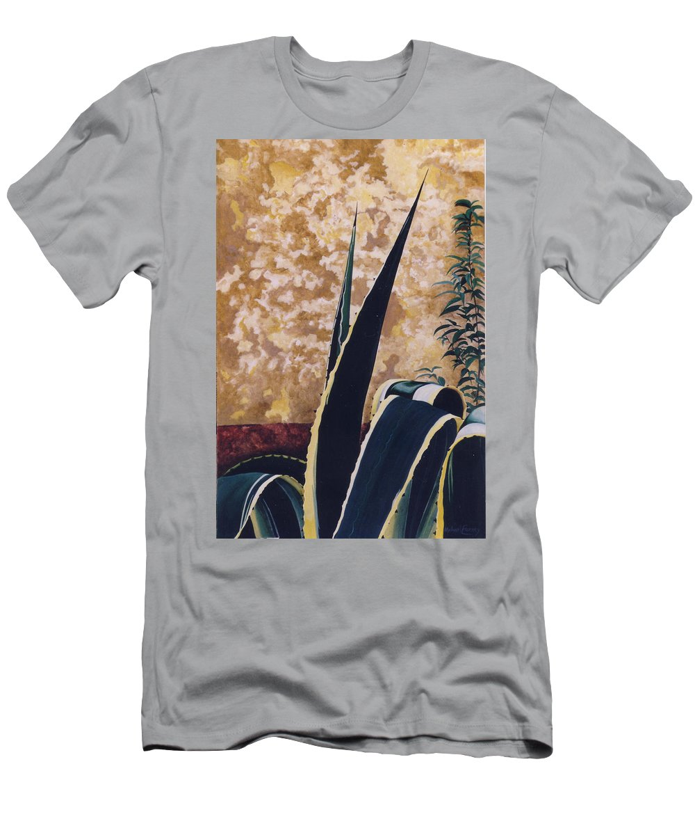 Hyperrealism Men's T-Shirt (Athletic Fit) featuring the painting Agave I by Michael Earney