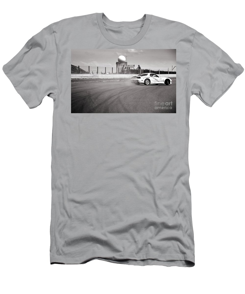 Car Men's T-Shirt (Athletic Fit) featuring the photograph Airfield Drifting by Andy Smy